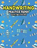 Handwriting Practice Paper With Lines For Kids: Universe dashed Galaxy Handwriting Practice Paper With Dotted Lined Sheets for Kids, Kindergarteners, Preschoolers, And toddlers