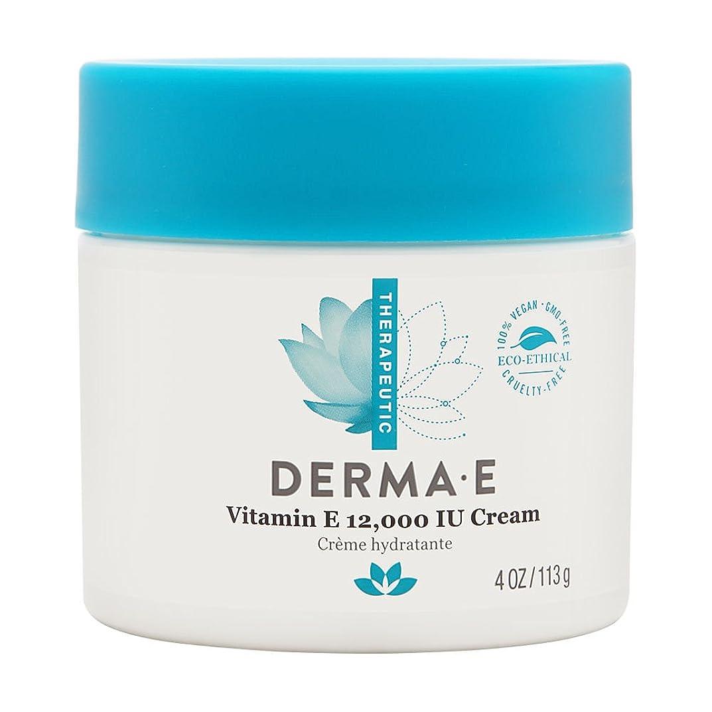 振る二度美しいDerma E Therapeutic Vitamin E 12,000 IU Cream 113g/4oz並行輸入品