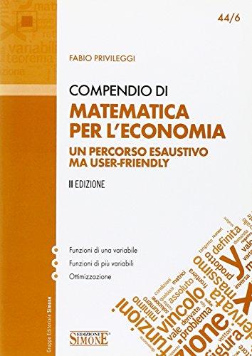 Compendio di matematica per l'economia