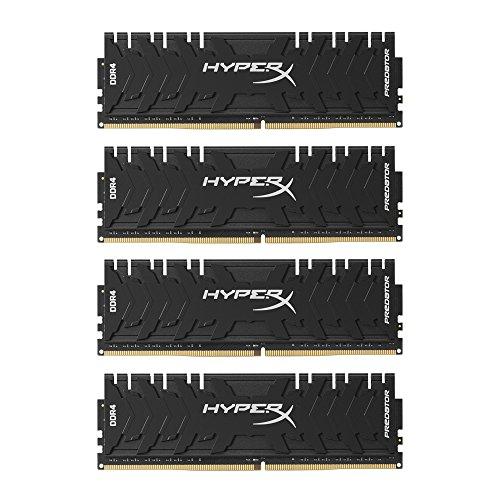 HyperX HX430C15PB3K4/16 Predator Arbeitsspeicher, DDR4, 16GB Kit (4x4GB), 3000MHz, CL15, DIMM,schwarz