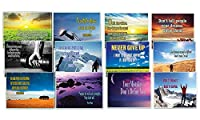 Creanoso Assorted Inspirational Stay Strong Success Quotes Postcards (60-Pack) – Inspiring Inspirational Sayings Greeting Cards for Men Women – Great Giveaways Collection Bulk Set – Employee Rewards [並行輸入品]