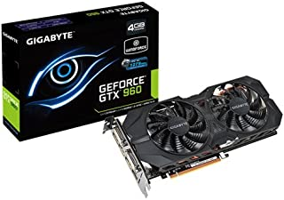 Gigabyte GeForce GTX 960 OC WindForce - Tarjeta gráfica (400 W, GeForce GTX 960 a 7 GHz, 4 GB de RAM), Negro