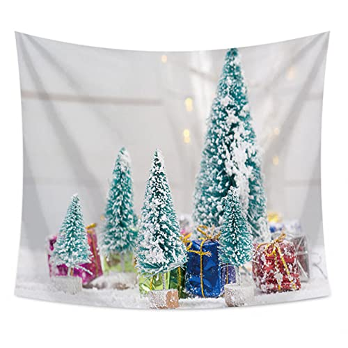 DQLREW Tapiz decoración Pared Arte tapices árbol de Navidad Caja de Regalo patrón Tapiz Tapiz de Fondo paño decoración del hogar Toallas de Playa chales Fondo de Pared Decor hogar Navidad Regalos