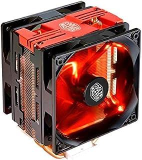 مبرِّد وحدة المعالجة المركزية هايبر 212 تيربو بإضاءة ليد من كولر ماستر، RR-212TR-16PR-R1 (غطاء علوي أحمر)