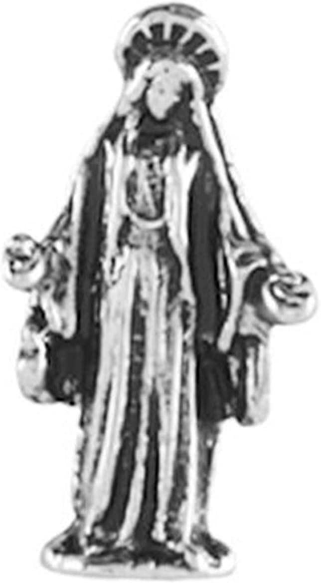 New Virgin Mary Max 55% Sale Special Price OFF Mother of God Mem 12mm Charm Silver Floating for