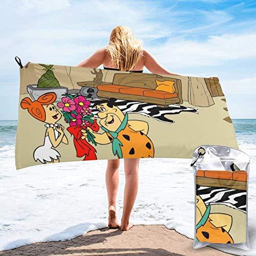 Yaxinduobao Flintstones Badetuch Schnelltrocknende Pooltücher Strandstühle Weiches Handtuch