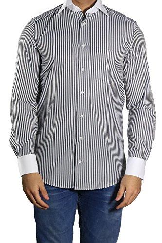 MMUGA Winchester-Kragen Hemd klassisch Schwarz L