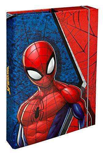 Undercover SPID0940 Heftbox A4 mit Spanngummi, Marvels Spider-Man, ca. 32 x 24 x 4 cm
