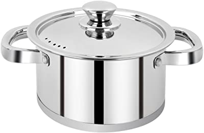 RATNA Induction, Impact Forged Bottom, Cook & Serve Cookware, Casserole, Casserole 18 cm-Works Perfectly on Gas, Induction Stove and Dishwasher Compatible, Capacity 2L