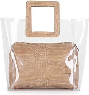 FANCY LOVE Classy Waterprof Clear Tote Beach Shoulder Crossbody Bag