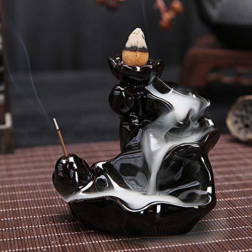 Keramik Glasur Weihrauch Brenner Halter Stand Kegel Rückfluss Räuchergefäß für Hauptinnen Dekor