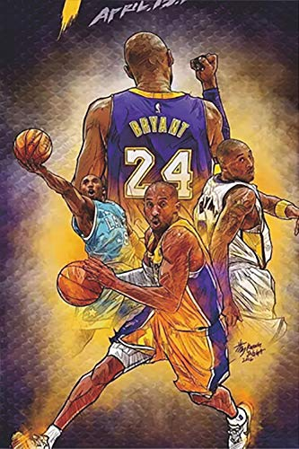 Kobe Bryant 16' x 24' Poster - Inspirational Print for Offices, Walls, Rooms, Dorms, Homes - Great Gift For Basketball Fans Kids and Adults,No Frame