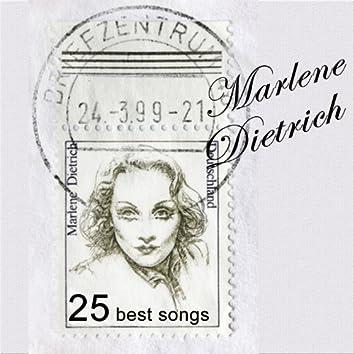 The Blue Angel: 25 Best Songs by Marlene Dietrich