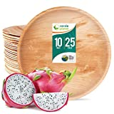 Verde Planet - 10.25 inch Round Palm Leaf Plates - Biodegradable, Ecofriendly, Disposable, Sturdy, Elegant, Premium Quality Plates - 25 Count