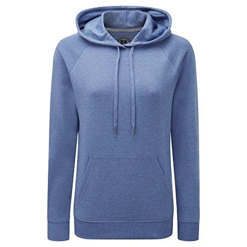 Russell Womens/Ladies HD Hooded Sweatshirt (M) (Blue Marl)