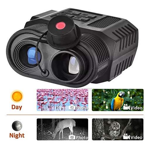 BEAUTTO 3.5-9X21 Zoomen Mini IR Nachtsichtgerät Monokulare HD Digital Infrarot IR Nachtsichtbrille Kamera mit 850 nm Camcorder für Tag und Nacht