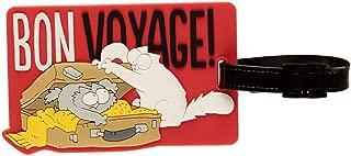 100/% Kunststoff. Bedruckt Simons Cat Gep/äckanh/änger Bon Voyage wei/ß//rot