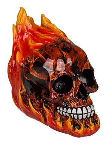 MIK Funshopping Spardose Sparbüchse Totenkopf Skull (Schädel mit Feuer und Flammen)