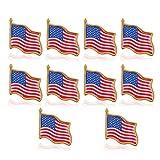 OULII Amerikanische Flagge Pin amerikanische Flagge am Revers Pin USA USA Hut Tie Tack Abzeichen Pin 10PCS