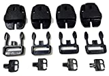 RatchetStrap.Com Qty 4 SPA or Hot Tub Cover Nexus Lock Plastic Buckle Replacement Kit