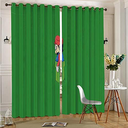 DONEECKL - Tende oscuranti per finestre super Mario Bros per tende da finestra e mantovane, 72 x 84 cm