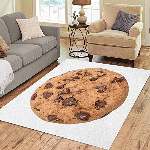 qinzuisp Entreetapijt Bruin Bak Chocolade Chip Cookie Oranje Koekje Calorieën 150X210Cm Home Decor Tapijt Vloerkleed Rug Memory Foam Levendige Moderne Mode Gepersonaliseerd