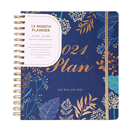 2021 Planner Weekly Monthly Agenda Personal Daily Planner and Agenda Organizer Book Schedule Your School or Business Calendar Notebook Productivity Journal