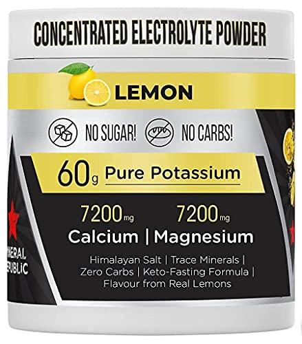 Honest Electrolyte Powder: Electrolitos de Alta Potencia sin Azúcar/Electrolitos de Ceto sin Calorías con Magnesio, Polvo de Potasio Concentrado, Sodio y Minerales de Ceto | Sales de Ayuno
