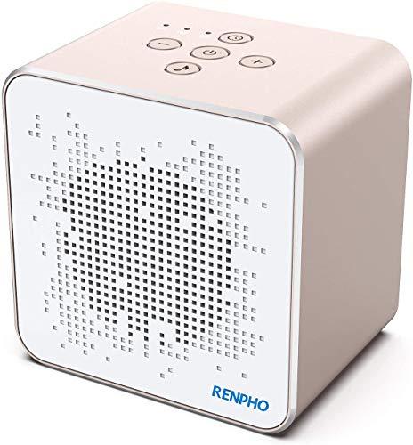 Soundmaschine, RENPHO Weißes Rauschen Maschine für schlafendes, Erwachsene mit beruhigenden Klängen & Memory Timer Funktion, Privatsphäre Geräuschdämpfung für Büro, tragbar für Reisen Zuhause