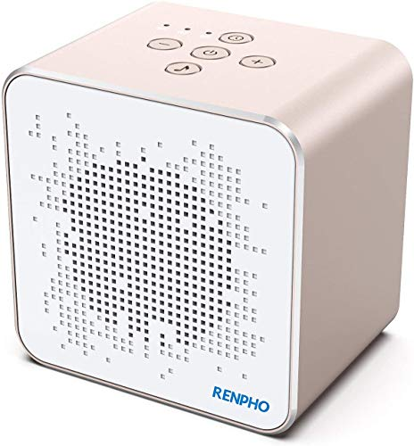 RENPHO Machine à bruit blanc, assure une bonne qualité du sommeil pour adultes avec sons apaisants et minuteur avec mémoire, annulation des bruits de la vie privée au bureau, portable pour en voyage