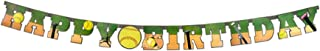 Softball Happy Birthday Banner (Large, 7