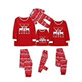 Fossen MuRope Pijamas Familiares Iguales de Reno, Pijamas de Navidad Familia Conjunto, Pijamas Mujer Hombre Niño Bebe Divertido Baratos Ropa de Dormir Invierno