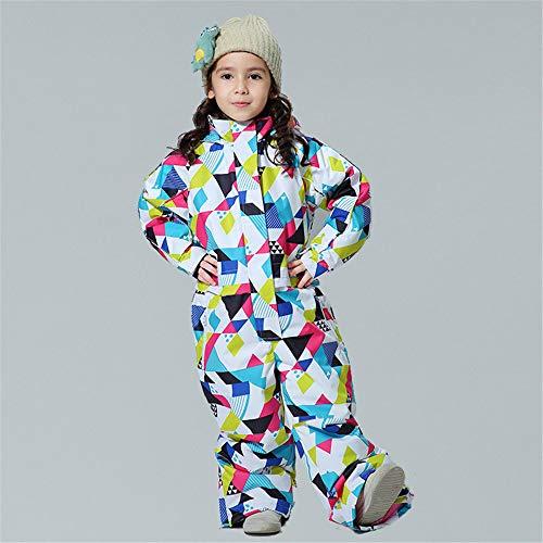 HXSKI Kids Sneeuwpakken, 1-delige Jumpsuits Skibroek Baby Siamese Skipak, Jongens en Meisjes Warm, Waterdicht en Ademend Ski-uitrusting