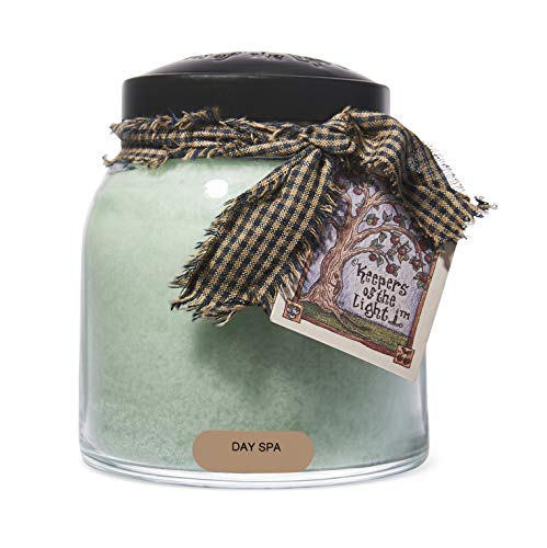 A Cheerful Giver Day Spa Papa Jar Candle, 34-Ounce, 34oz, green