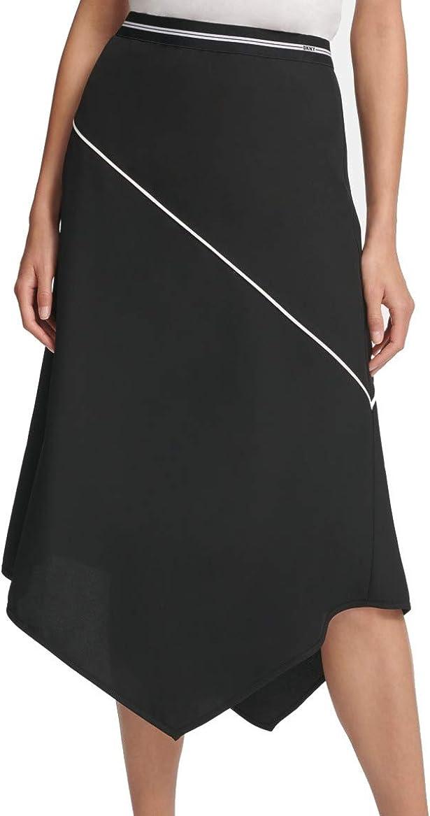 DKNY Women's Trapezoid Office Asymmetrical Skirt
