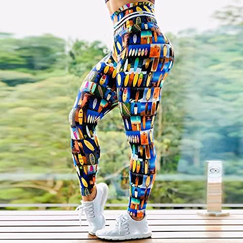 Mallas De Deporte De Mujer,Mujer, Moderno, Creativo, Color, Tabla De Surf, Estampado...
