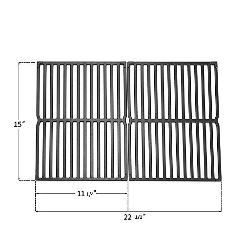 """N / A (2 Pack) 7522 15"""" Cast Iron Gas Grill Cooking Grates Replacement for Weber Genesis Silver A, Spirit 500, Spirit E-210, Spirit S-210,Weber Models 2241298,2271411 Grates Grids"""