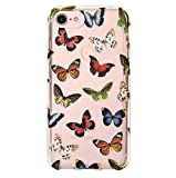 Velvet Caviar for Cute iPhone 8 Case & iPhone 7 Case Butterfly Clear for Women Girls - Protective Phone Cases [Drop Test Certified] (Butterflies)
