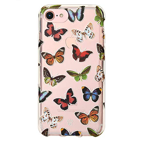 Velvet Caviar Compatible with iPhone SE 2020 Case, iPhone 8 Case, iPhone 7 Case Butterfly for Women & Girls - Cute Clear Protective Phone Cover (Colorful Butterflies)