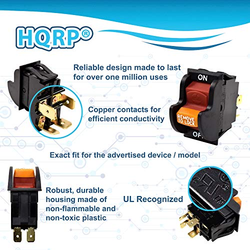 HQRP On-Off Toggle Switch Compatible with Delta 31-120 31-250 31-252 31-255X 31-340 31-460 31-695 31-750 31-780 SA350 SA446 SM500 Sander, 22-540 22-560 22-565 22-580 Planer