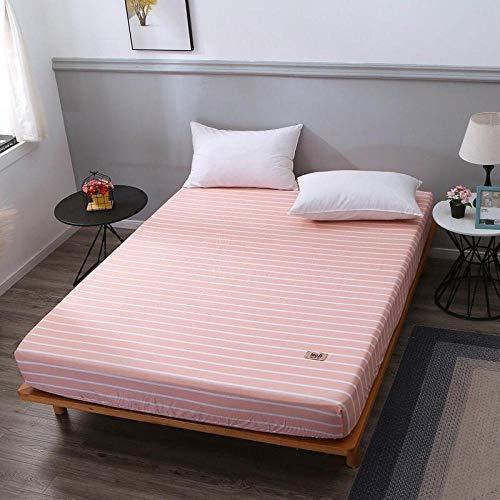 HNLHLY Simmons matrasbeschermer van katoen, voor eenpersoonsbed, gewatteerd