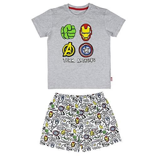 Cerdá Avengers   Pijama los Vengadores Niño de Color Gris Juego, 10 años para Niños
