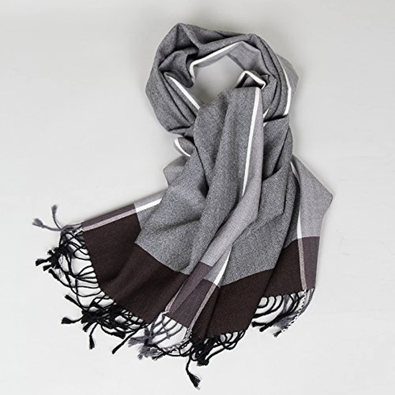 DIDIDD Scarfmen's autumn winter warm wool scarf
