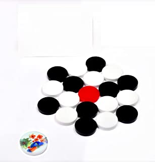 6MM ACRYLIC CARROM COINS Board Game With free Printed Striker