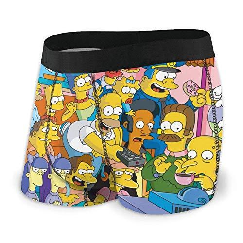 DWEO0JDWK Anime Simpsons Herren Cotton Boxershorts 2 Pack-Large Black