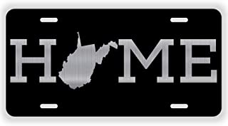 JMM Industries Home West Virginia State WV Vanity Novelty License Plate Tag Metal 6-Inches by 12-Inches Etched Aluminum UV Resistant ELP087