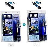 Sawyer Mini - Filtre d'eau pour randonnée, accessoire camping, trekking, MINI set de 2 Noir - Blau, purificateur d'eau de robinet + Sachet 2 x 0.5Litre