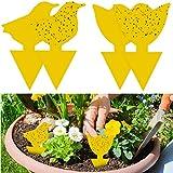 Die besten Fliegenfalle - YHmall 48Pcs steckbare Fliegenfalle Gelbtafeln Gelbsticker Schütz Pflanze Bewertungen