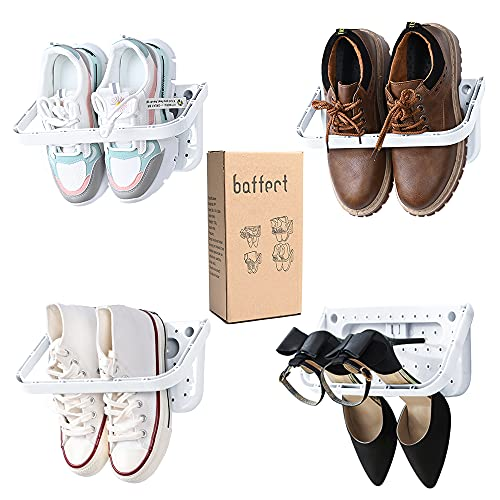 Zapatero Baffect plegable 4 piezas para montaje en pared,zapatero plegable...