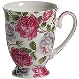 Maxwell & Williams S569462 Royal Old England Becher auf Fuß, Kaffeebecher, Tasse, Motiv: Teerose,...